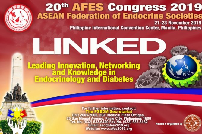 20th AFES Congress 2019 –  LINKED: Leading Innovation, Networking and Knowledge in Endocrinology and Diabetes