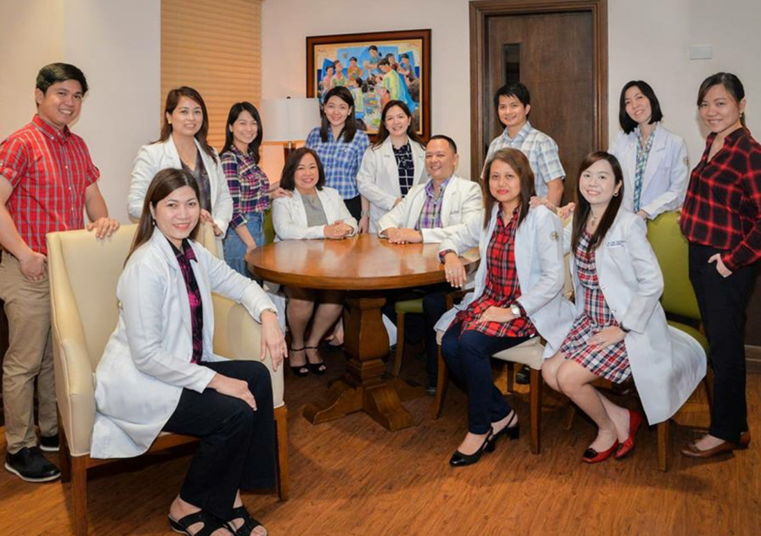The Consultants and Fellows-in-Training of the Chong Hua Hospital-Section of Endocrinology. (Seated L-R): Dr. Deanna Paz Del Mar, Dr. Gorgonia Panilagao, Dr. Jeremy Jones Robles, Dr. Imelda Bilocura, Dr. April Melody Abcede; (Standing L-R): Dr. Alistair Dela Cruz, Dr. Athena Mejia, Dr. Waynila Lim-Cuizon, Dr. Lyzanne Tam-Go, Dr. Vircel Tiu, Dr. Sarael Brobo, Dr. Cerly Cindy Tan, Dr. Mae Rhea Lim-Pacoli.